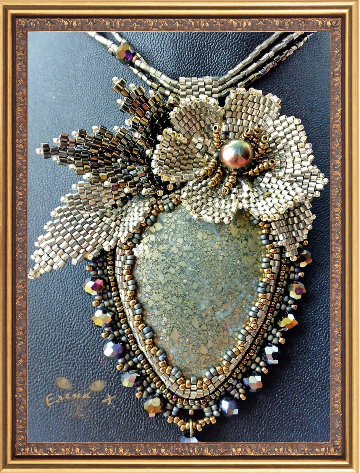 Вышивка бисером и камнями мастер класс